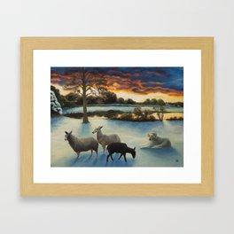 Flock in Winter Framed Art Print