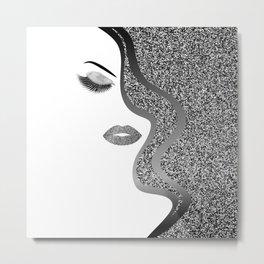Glitter woman Metal Print