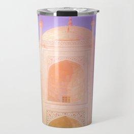 Morning Light Reflexion at Taj Mahal Travel Mug