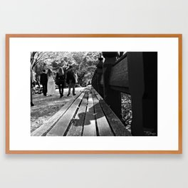 Bench or Bride? Framed Art Print