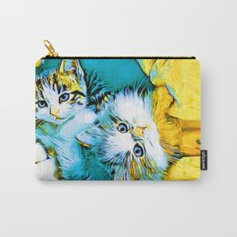 Twin Kittens Oscar & Otis Carry-All Pouch