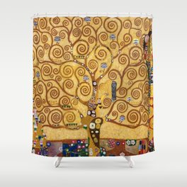 Gustav Klimt The Tree Of Life Shower Curtain