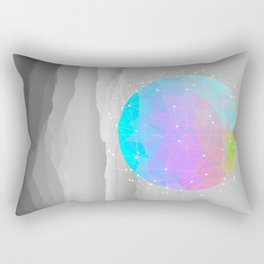 Worlds That Never Were (Geodesic Moon) Rectangular Pillow