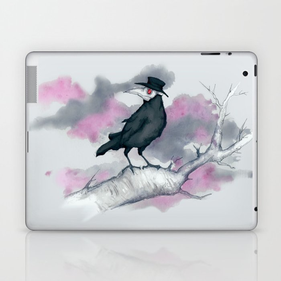 b8feadd326a63 Plague Doctor Crow Laptop & iPad Skin by lvbart | Society6