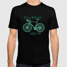 It's a Bikers' Life MEDIUM Mens Fitted Tee Black