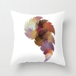 Foxtail Pixel Fractal Throw Pillow