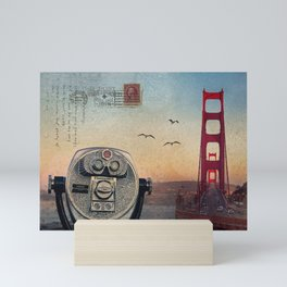 GOLDEN GATE RAIN - San Francisco Mini Art Print