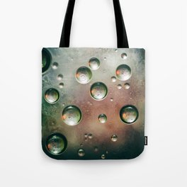 Organic Silver Oil Bubble Abstract Tote Bag