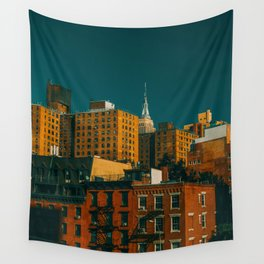 New York City Apartments (Color) Wall Tapestry