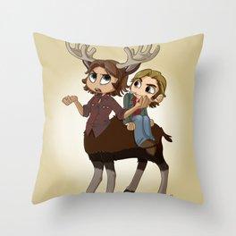 Moosetaur Throw Pillow