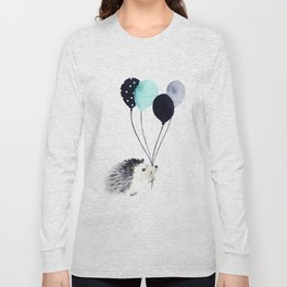 Hedgehog With Balloons Long Sleeve T-shirt