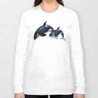 orca Long Sleeve T-shirts featuring Orca by vervex