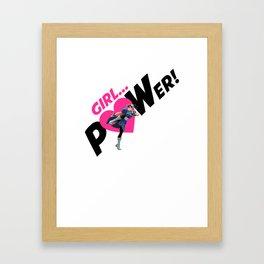 Girl POWER! Chun Li Fighter Framed Art Print