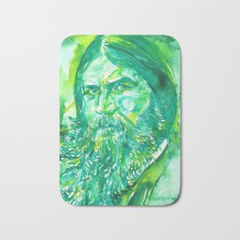 GRIGORI RASPUTIN - watercolor portrait.2 Bath Mat