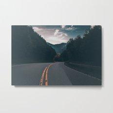 Road #Trees Metal Print