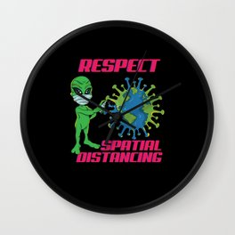 Alien Respect Spatial Distancing Wall Clock