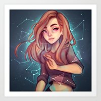 constellations Art Prints featuring Constellations by Cyarin