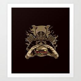 Samurai Burger Art Print