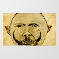 tribal Area & Throw Rugs featuring tribal  by Joe Ganech