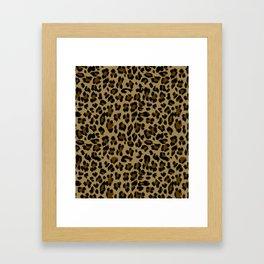 Leopard Print Pattern Framed Art Print