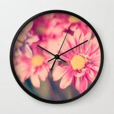 Pink Retro  Wall Clock