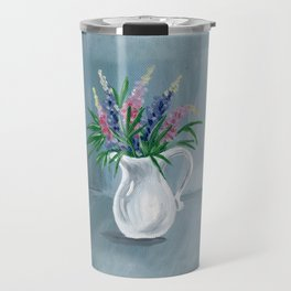 Pitcher of Lupins Travel Mug