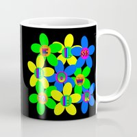 60s Mugs featuring Flower Power 60s-70s by dedmanshootn