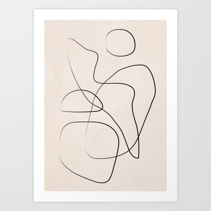 Abstract Line I Art Print