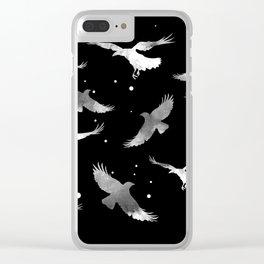 NOIR RAVEN PATTERN Clear iPhone Case