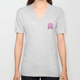 Pink Skulls Unisex V-Neck