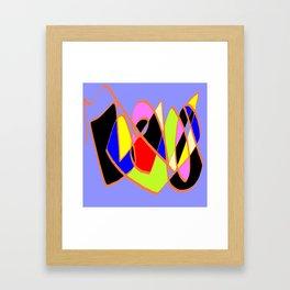 Multicolor blue ign Framed Art Print