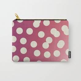 Design dots on pink. Vint. 50s dots Carry-All Pouch