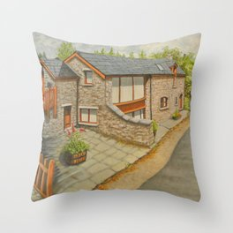 Bank Cottage, Talybont-on-Usk Throw Pillow