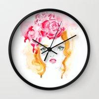 doll Wall Clocks featuring Doll by S'ANNie