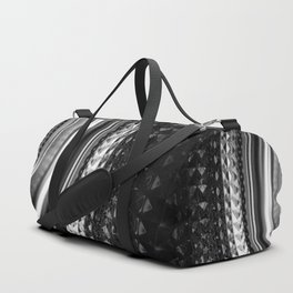 Shimmering textures of laundry machine drum -- Everyday art Duffle Bag