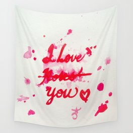I Love Roses... I Mean, I Love You Wall Tapestry