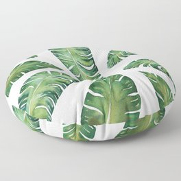 Tropical Banana Leaves #society6 #buyart Floor Pillow