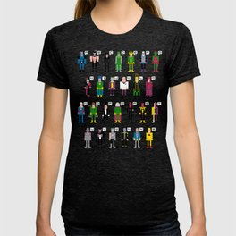 Pixel Supervillain Alphabet T-shirt