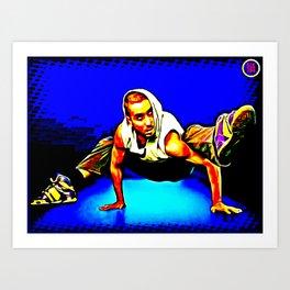 B-BOY FRREZE, JUST FOR KICKS Art Print