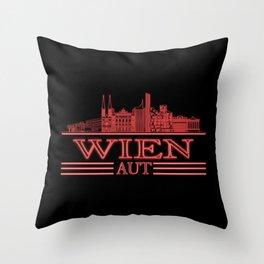 Vienna Skyline Austria City Silhouette Travel Throw Pillow