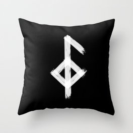 Icelandic magical stave meaning good health Throw Pillow