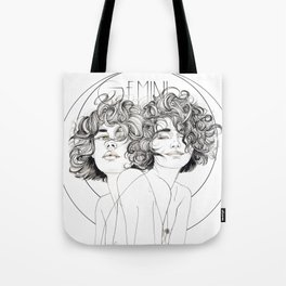 Gemini Zodiac (The Twins) Tote Bag