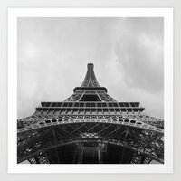 eiffel tower Art Prints featuring Eiffel Tower by Evan Morris Cohen