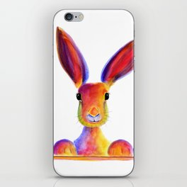 Happy Hare Rabbit ' JUST TO SAY HELLO ' by Shirley MacArthur iPhone Skin