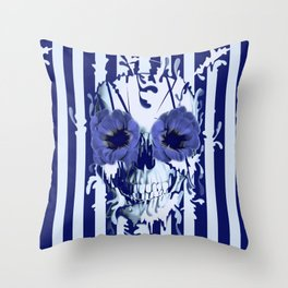 Limbo in navy color palette Throw Pillow