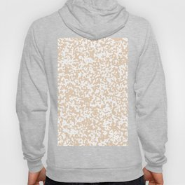 Small Spots - White and Pastel Brown Hoody