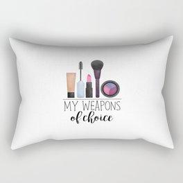 My Weapons Of Choice     Makeup Rectangular Pillow