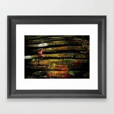 Climbing Girl Framed Art Print