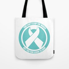 Ride the Waves - Cancer Ribbon Tote Bag