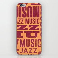 Jazz Poster iPhone & iPod Skin